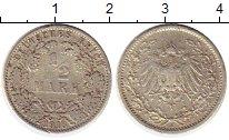 Изображение Монеты Германия 1/2 марки 1913 Серебро XF-