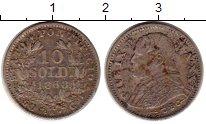 Изображение Монеты Европа Ватикан 10 сольди 1868 Серебро XF-