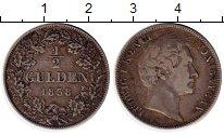 Изображение Монеты Бавария 1/2 гульдена 1838 Серебро XF- Людвиг I