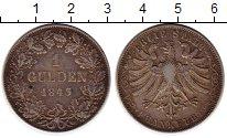 Изображение Монеты Германия Франкфурт 1 гульден 1843 Серебро XF