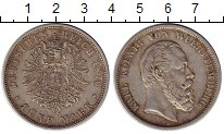 Изображение Монеты Вюртемберг 5 марок 1876 Серебро XF