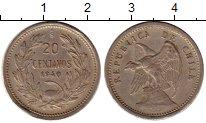 Изображение Монеты Южная Америка Чили 20 сентаво 1940 Медно-никель XF