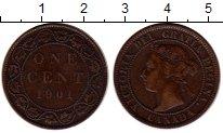 Изображение Монеты Северная Америка Канада 1 цент 1901 Бронза XF