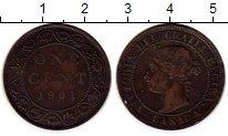 Изображение Монеты Северная Америка Канада 1 цент 1901 Бронза VF