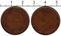 Изображение Монеты Канада 1 цент 1914 Бронза XF Георг V