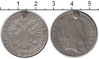 Изображение Монеты Австрия 20 крейцеров 1845 Серебро VF-