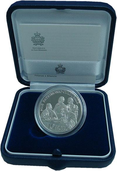 Изображение Подарочные монеты Европа Сан-Марино 10 евро 2018 Серебро Proof