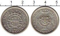 Изображение Монеты Африка Сан-Томе и Принсипи 5 эскудо 1951 Серебро XF