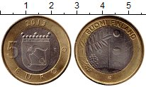 Изображение Монеты Европа Финляндия 5 евро 2013 Биметалл UNC-