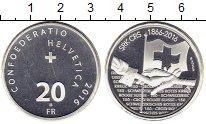 Изображение Монеты Европа Швейцария 20 франков 2016 Серебро Proof