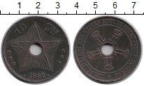 Изображение Монеты Бельгия Бельгийское Конго 10 сантим 1888 Медь XF