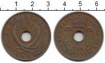 Изображение Монеты Восточная Африка 10 центов 1950 Бронза XF Георг VI