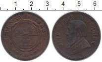 Изображение Монеты Африка ЮАР 1 пенни 1898 Медь VF