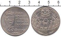 Изображение Монеты Европа Андорра 25 сентим 1995 Медно-никель UNC