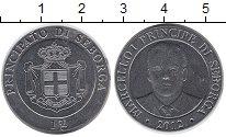 Изображение Монеты Италия Себорга 1 луиджино 2012 Медно-никель UNC-
