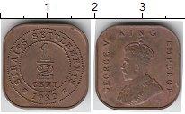 Изображение Монеты Великобритания Стрейтс-Сеттльмент 1/2 цента 1932 Бронза XF