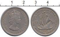 Изображение Монеты Великобритания Карибы 25 центов 1965 Медно-никель XF