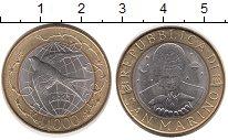 Изображение Монеты Европа Сан-Марино 1000 лир 2000 Биметалл UNC
