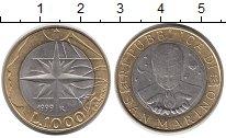 Изображение Монеты Европа Сан-Марино 1000 лир 1999 Биметалл UNC