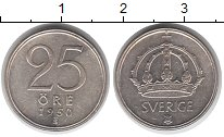 Изображение Монеты Европа Швеция 25 эре 1950 Серебро VF