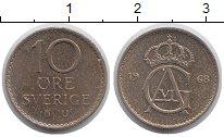 Изображение Монеты Европа Швеция 10 эре 1968 Медно-никель XF