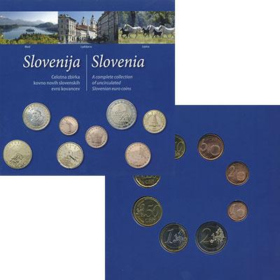 Изображение Подарочные монеты Словения Набор 2007 года 2007  UNC