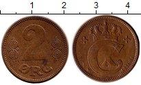 Изображение Монеты Европа Дания 2 эре 1921 Бронза XF