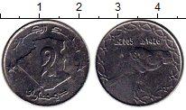 Изображение Монеты Алжир 2 динара 2005 Медно-никель UNC- Верблюд