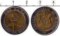 Изображение Монеты Нигерия 1 найра 2006 Биметалл XF