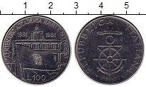 Изображение Монеты Европа Италия 100 лир 1981 Медно-никель UNC-