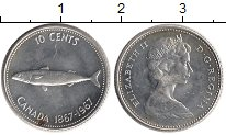 Изображение Монеты Северная Америка Канада 10 центов 1967 Серебро UNC-