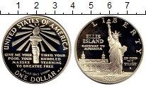 Изображение Мелочь США 1 доллар 1986 Серебро Proof-