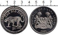 Изображение Монеты Сьерра-Леоне 1 доллар 2001 Медно-никель UNC-