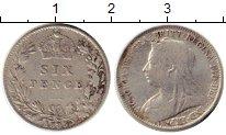 Изображение Монеты Европа Великобритания 6 пенсов 1895 Серебро VF