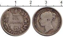 Изображение Монеты Великобритания 6 пенсов 1871 Серебро VF