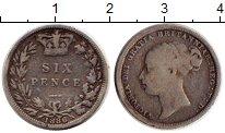 Изображение Монеты Великобритания 6 пенсов 1886 Серебро XF