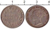 Изображение Монеты Европа Великобритания 6 пенсов 1885 Серебро VF