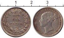 Изображение Монеты Европа Великобритания 6 пенсов 1880 Серебро XF-