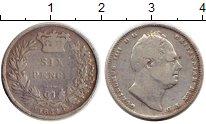 Изображение Монеты Европа Великобритания 6 пенсов 1834 Серебро VF