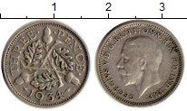 Изображение Монеты Европа Великобритания 3 пенса 1934 Серебро VF