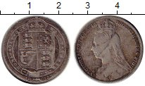 Изображение Монеты Европа Великобритания 1 шиллинг 1892 Серебро VF