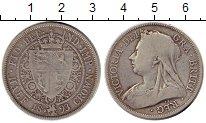 Изображение Монеты Великобритания 1/2 кроны 1893 Серебро VF
