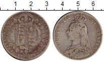 Изображение Монеты Европа Великобритания 1/2 кроны 1889 Серебро VF
