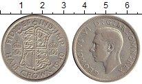 Изображение Монеты Великобритания 1/2 кроны 1940 Серебро XF-