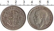 Изображение Монеты Европа Великобритания 1/2 кроны 1929 Серебро XF-