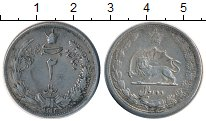 Изображение Монеты Азия Иран 2 риала 1934 Серебро XF