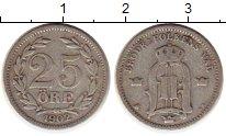 Изображение Монеты Швеция 25 эре 1902 Серебро VF Оскар II
