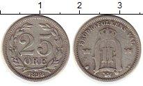 Изображение Монеты Европа Швеция 25 эре 1898 Серебро VF
