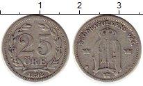 Изображение Монеты Швеция 25 эре 1898 Серебро VF Оскар II