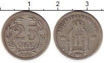 Изображение Монеты Швеция 25 эре 1897 Серебро VF